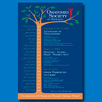 Oratorio Society of Minnesota 20th Anniversary Poster